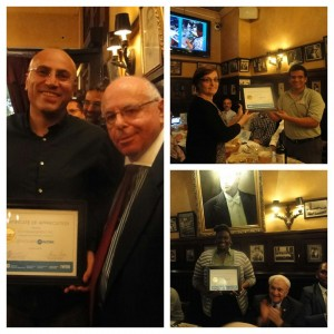 Employers EVS, Quadlogic and the MTA were among the employers joining the SAW team for an appreciation dinner.