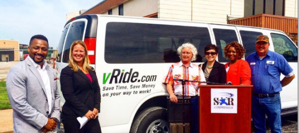 A press conference announcing the vanpooling project was held in Tulsa on June 10.