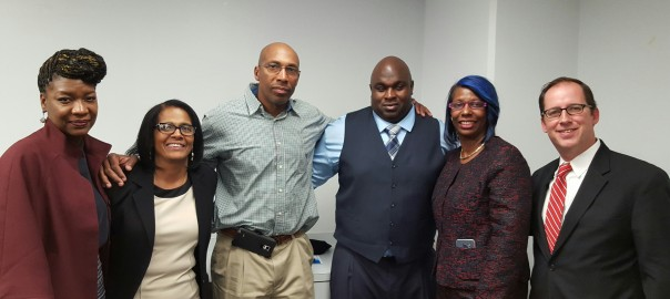 From left: Deldreana Peterkins; Patricia Brooks; Anthony Lee; James Walker; Crystal McClelland, Doug Cotter.